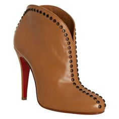 WHY LORD WHY? :) Christian Louboutin Catch Me 100 Ankle Boots Brown Red Bottom Shoes