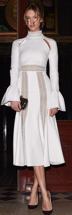 Who made Karlie Kloss' white dress?