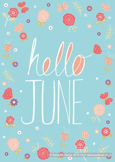 """Hello June"" © Rebecca Stoner www.rebeccastoner.co.uk"