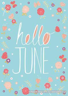 """Hello June"" © Rebecca Stoner www.rebeccastoner.co.uk"