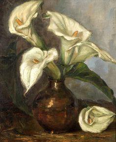 Vaso de Flores (Copos de Leite), de Anita Malfatti. sem data, [Coleção Simão…