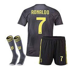 63e2e72d3 Juventus  7 Ronaldo Away 2018-2019 Season Color Black Soc... https