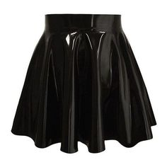 Couture Latex Skater Skirt Atsuko Kudo ❤ liked on Polyvore featuring skirts, knee length circle skirt, latex skater skirt, flared skirt, atsuko kudo and knee high skirts