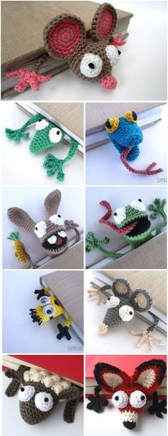 These nine crochet bookmark patterns are small projects that require just a litt. - - These nine crochet bookmark patterns are small projects that require just a little bit of yarn and time. Here are some free and paid crochet patterns . Marque-pages Au Crochet, Beau Crochet, Crochet Mignon, Crochet Books, Cute Crochet, Small Crochet Gifts, Crochet Stitches, Crochet Beanie, Crochet Bunny