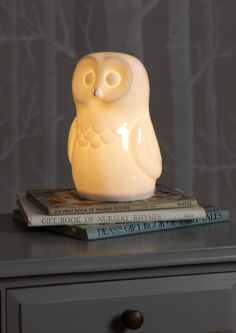 Owl lamp from www.whiterabbitengland.com - gorgeous dog and rabbit versions too!!