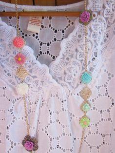 Forever in bloom resin flower garden necklace by elementsinspired, $39.00