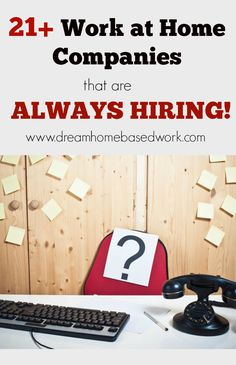 Need to know which work at home jobs are Hiring NOW! Here are Work at Home Companies that are always looking for new people to work from home. work from home, making money, earn money from home Work From Home Companies, Work From Home Jobs, Make Money From Home, Way To Make Money, How To Make, Money Fast, Data Entry From Home, Need Money Now, Free Money