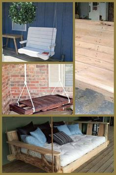 outside swing pallet furniture Pallet Decor, Furniture Diy, Furniture, Diy Home Decor, Home Diy, Outside Furniture, Home Furniture, Pallet Furniture Outdoor, Home Decor