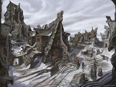 Windhelm Street concept art (Skyrim)