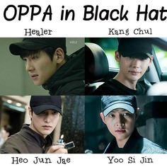 Ji Chang wook HEALER Lee min ho LEGEND OF THE BLUE SEA Lee jong suk W TWO WORD'S Song jong ki DESCENTDANT OF THE SUN'''THE FOUR HIT DRAMA