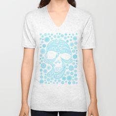 Skull Flower and Mandala UNISEX V-NECK T-SHIRT  @pointsalestore Society6 #tshirt #vneck #clothing #tee #sugarskull #flower #mandala #drawing #thedayofthedead #mexicosugarskull #mexico #skull  #dayofdead #mexicanart #muertes #diadelosmuertos  #indian #native #nativeamerican #owl #pattern #owls #chief #indianchief