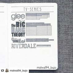 By @malwal94_bujo     Tag your photos with #bujobeauty for a chance to be featured   ・・・  Tv-Series tracker