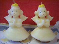 Vintage Gurley Novelty Christmas Candles Set of 2 Angels for $9.00