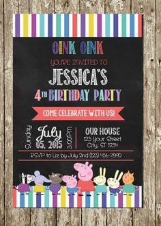 Peppa Pig Chalkboard Personalized Printable por PartyCreations4u