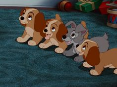 Lady and Tramp puppies