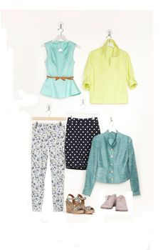 The seven winners on the opposite page have enough fresh color and fun patterns to breathe new life into any outfit--for less than $250, total! Peplum top, Ali & Kris, $32; macys.com. Bright anorak, Sonoma Life   Style, $48; kohls.com. Ladylike jacket, $34.80; forever21.com. Oxfords, Very Volatile, $62; veryvolatilela.com. Printed wedges, Christian Siriano for Payless, $29.99; payless.com. Floral jeans, $19.90; uniqlo.com. Pokla-dot pencil skirt, Merona for Target, $22.99; target.com…