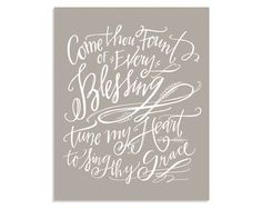 Come Thou Fount Canvas // Taupe