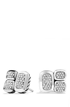 David Yurman 'Confetti' Stud Earrings with Diamonds at Nordstrom.com. Sterling silver. Pavé diamonds, 0.26 total carat weight.