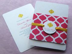 Indian Arch Wrap Invitation   Imbue You Wedding