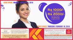 Check Our Latest Investment Scheme Visit : www.kosamattam.com/NCD-Prospectus.html Contact your nearest Kosamattam branch : +91 - 481 - 2586400