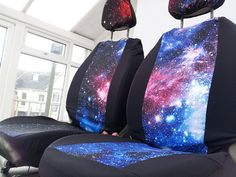 Items similar to Galaxy print car seat covers: car front seat covers. Milky way printed fabric on Etsy Galaxy Car, Bug Out Vehicle, Automotive Design, Automotive Industry, Automotive Carpet, Cover Style, Galaxy Print, Car Covers, Car Shop