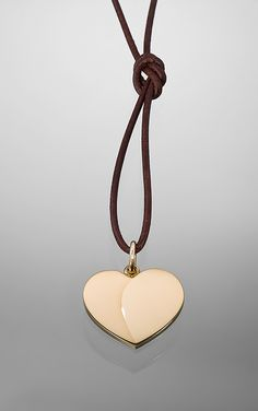 Large Golden Heart pendant