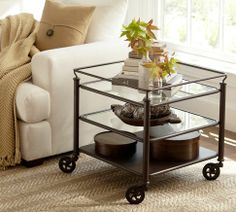 "Robert Side Table | Pottery Barn $399  24.5"" square x  23 7/5""h"
