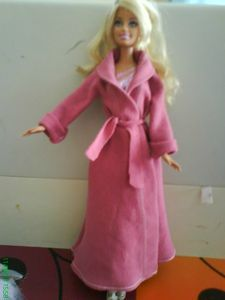 quick and easy bathrobe for barbie