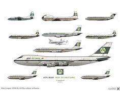 Aer Lingus 1960 & 70's colour schemes