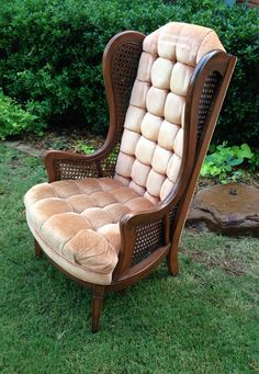 Outdoor Chairs, Rattan Chairs, Outdoor Decor, Furniture Decor, Outdoor Furniture, Take A Seat, Hollywood Regency, Wingback Chair, White Paints