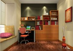 Interior Design Home Study Room Ideas Small Office Interior Design Ideas Home Study Room Designs - Home Decor Interior and Exterior Modern Study Rooms, Home Study Rooms, Modern Room, Study Room Design, Office Interior Design, Small Rooms, Small Spaces, Ikea Study, Clean House Schedule