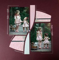 Album, 2 Photos, Charleston, Nairobi, Communion, Frame, Layouts, Scrapbooking, Home Decor