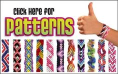 Friendship Bracelet Patterns written and video instructions using the My Friendship Bracelet Maker® by MyFBM.com and the Choose Friendship Co.