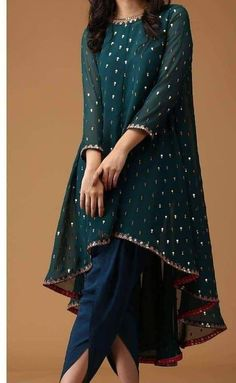 - Indian Satin Dhoti Shalwar Georgette Sequins Embr Kameez suit Ethnic wear dress Source by farhadkhalfey - Pakistani Fashion Party Wear, Pakistani Formal Dresses, Indian Fashion Dresses, Dress Indian Style, Pakistani Dress Design, Indian Gowns, Party Wear Indian Dresses, Shadi Dresses, Indian Suits