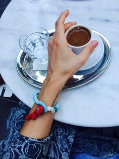 Summer style : turquoise & coral bracelet    boho style  bohochic  natural jewellery natural summer style boho jewellery jewelry