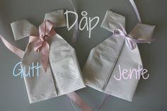 Søte dåpskjole-servietter til dåp og babyshower » Creative Fun 4 You