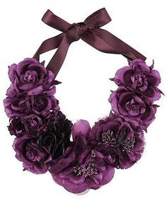 211 Best Flower Necklaces Images Fabric Jewelry Textile Jewelry
