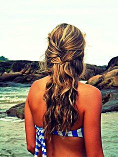 stylish beach hair
