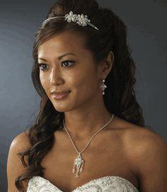 Elegant Crystal & Pearl Floral Bridal Headband