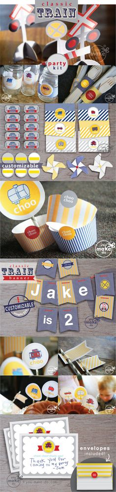INSTANT DOWNLOAD train party printables  choo choo by youmakedo, $18.00