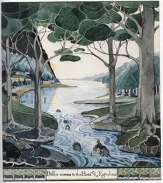 River. Tolkien's own illustrations