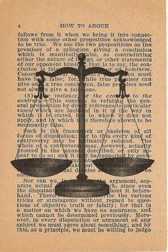 Scale Of Justice And Gavel Art Print On Dictionary Book