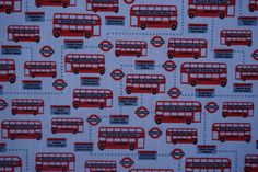 SOLD PER METRE New London Tube Underground Piece Polycotton Fabric CRAFTS
