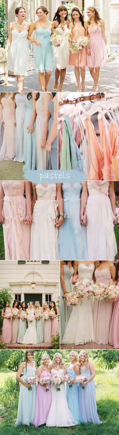 pastel color inspired spring summer bridesmaid dresses 2015 trends