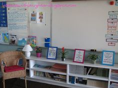 Lessons with Laughter: Classroom tour! I would love a wicker chair like this for my room..