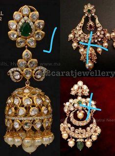 Saree Blouse Patterns, Jewelry Boards, Indian Ethnic, Jewelery, Earrings, Gold, Beautiful, Jewelry, Jewels