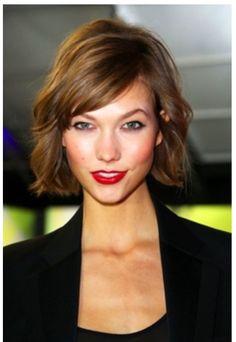 Jaw length hair cut