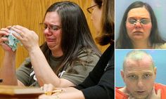 JUSTICE: An Ohio mother, Angel Abram, 35, sobbed in court after she was sentenced to three years in prison for regularly locking her young son in an unfinished basement.