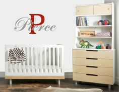 CHEVRON INITIAL MONOGRAM Wall decals are currently one of the hottest trends in home decor. It is one of the most easy ways to add a special