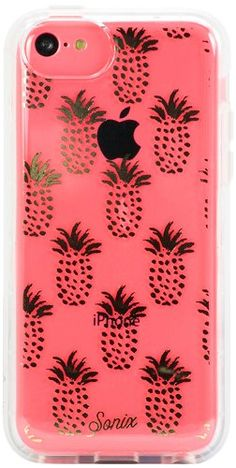 Sonix iPhone 5C Case - Retail Packaging - Clear Gold pineapples! Amazon:Cell Phones & Accessories
